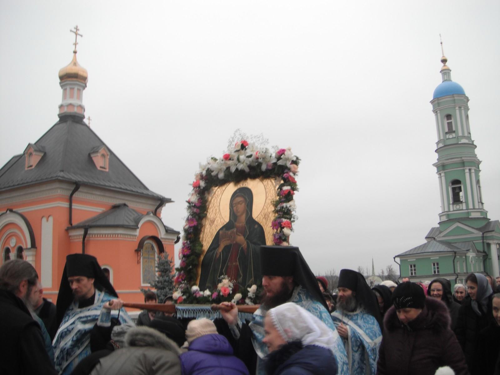 провожаем икону Калужской Богоматери