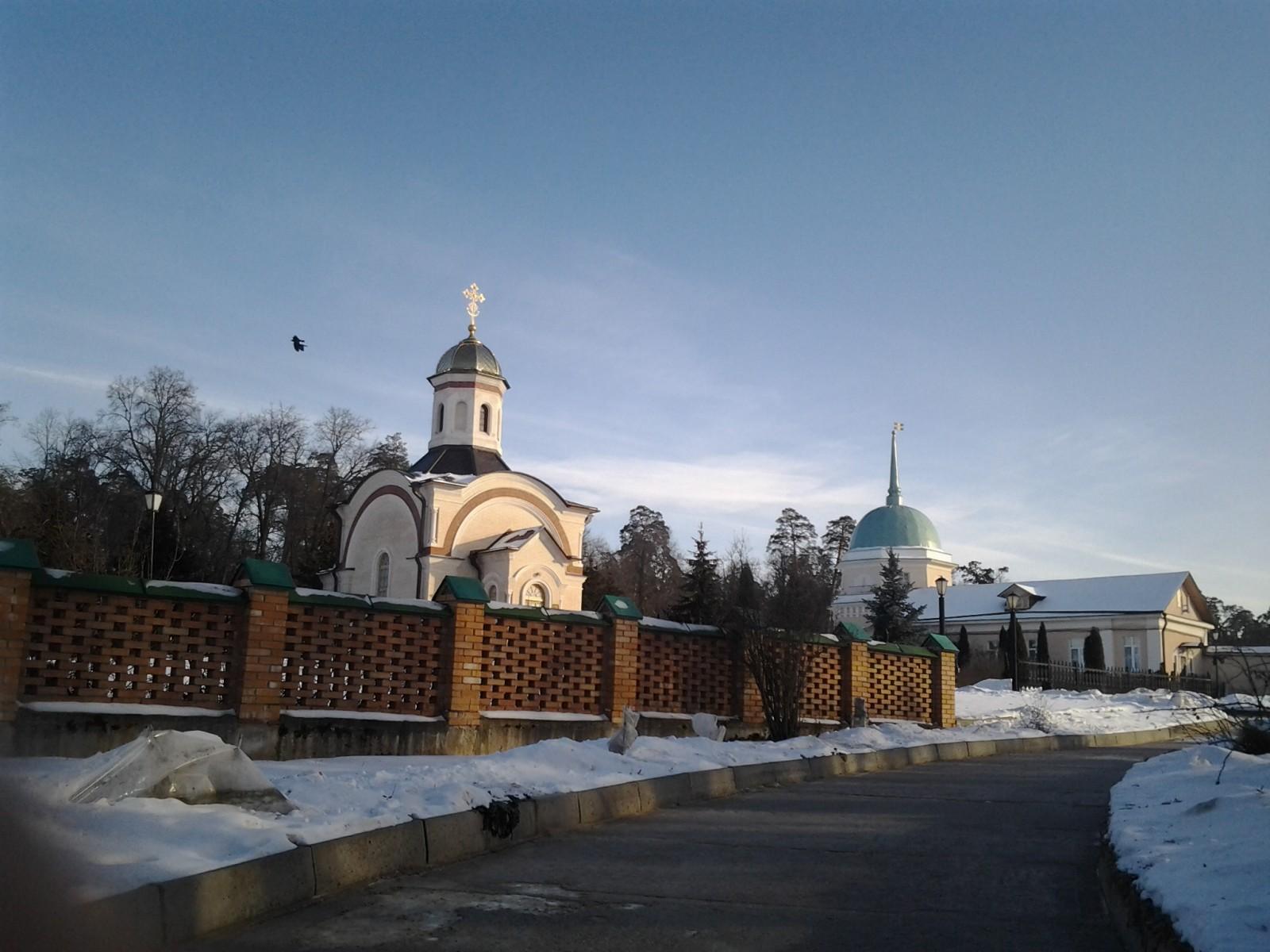 Часовня Новомучеников Оптинских. Зима 2012г