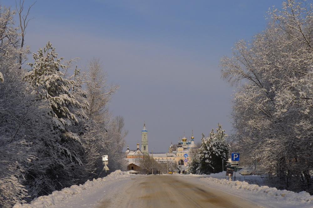 Зимняя дорога в Оптину
