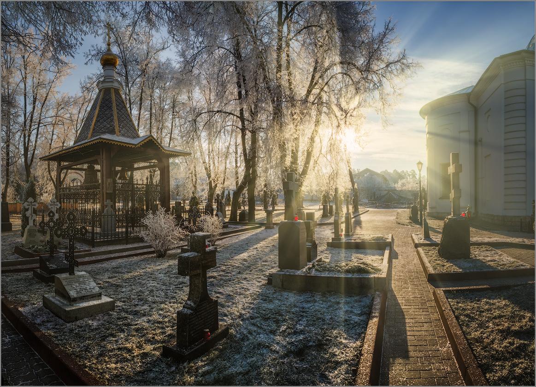 Солнечный свет Оптинского утра (снимок сделан 27 ноября 2014 г.)