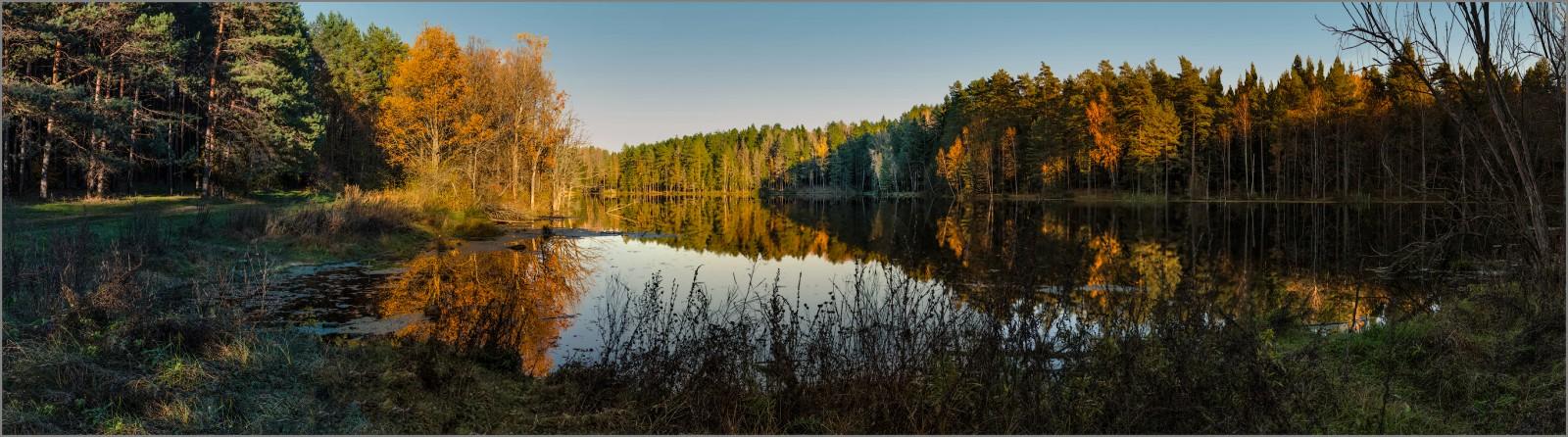 Лесное озеро ( Снимок сделан 14 октября 2013 г.)