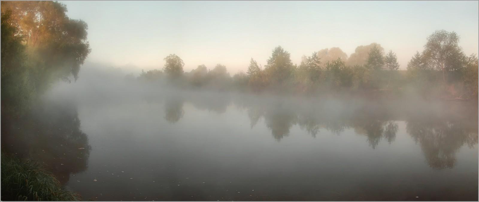 Туман на реке ( Снимок сделан 21 мая 2014 г.)