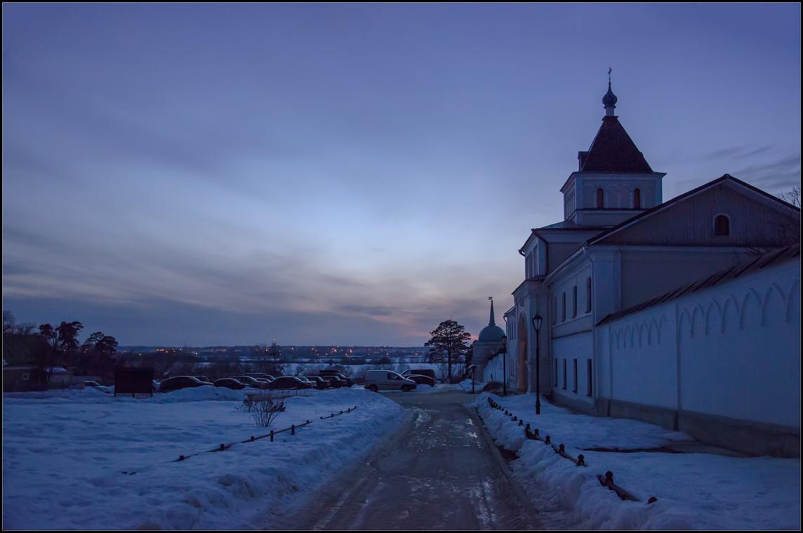 Вечерняя синева и огни маленького города ( 10 марта 2013 г.)