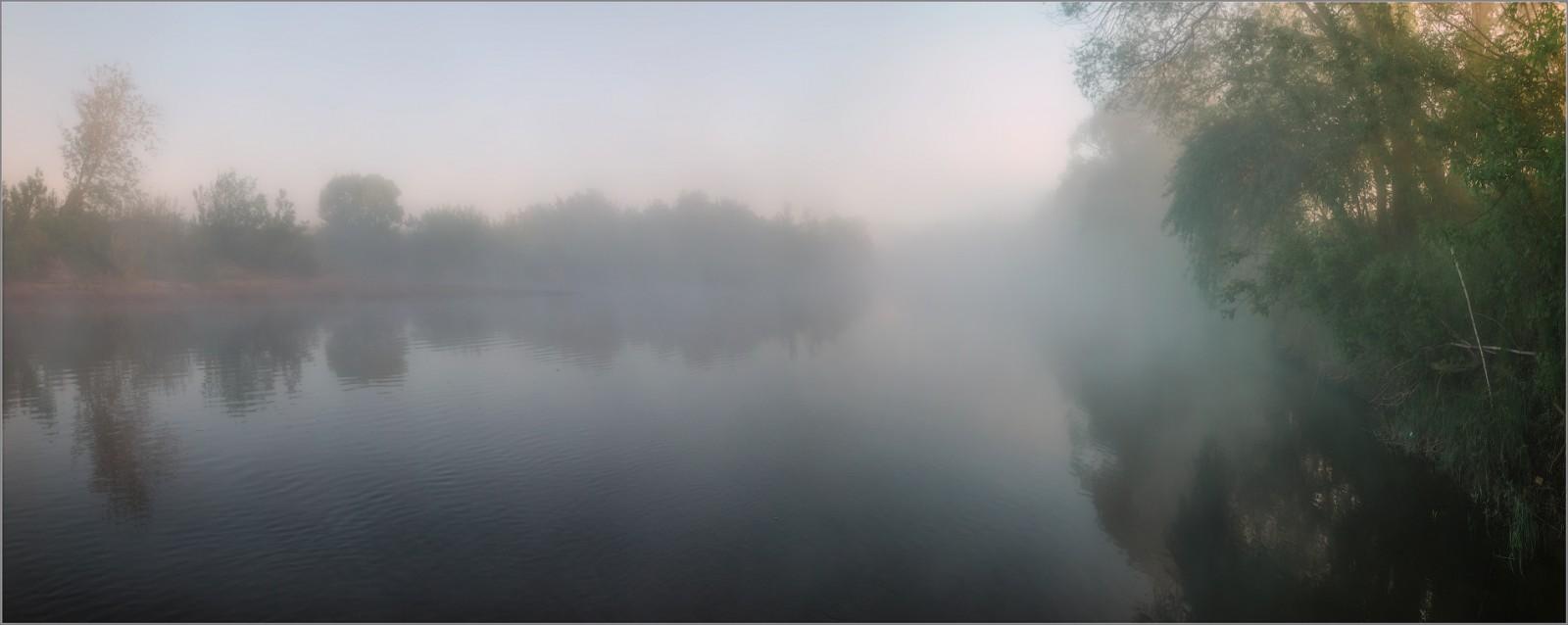Река, объятая туманом ( Снимок сделан 21 мая 2014 г.)