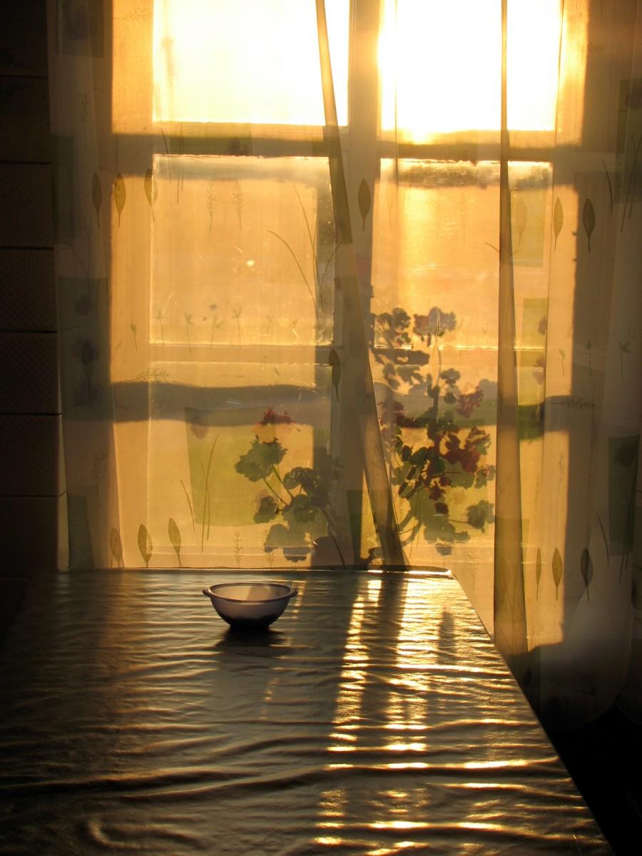 """закат на """"дежурном"""" столе"""