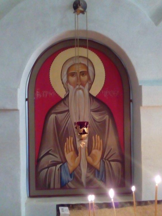 11. Икона прп. Давида Гареджийского - вторая слева от Царских Врат