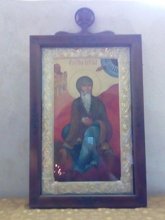 12. Икона прп. Давида на его гробнице