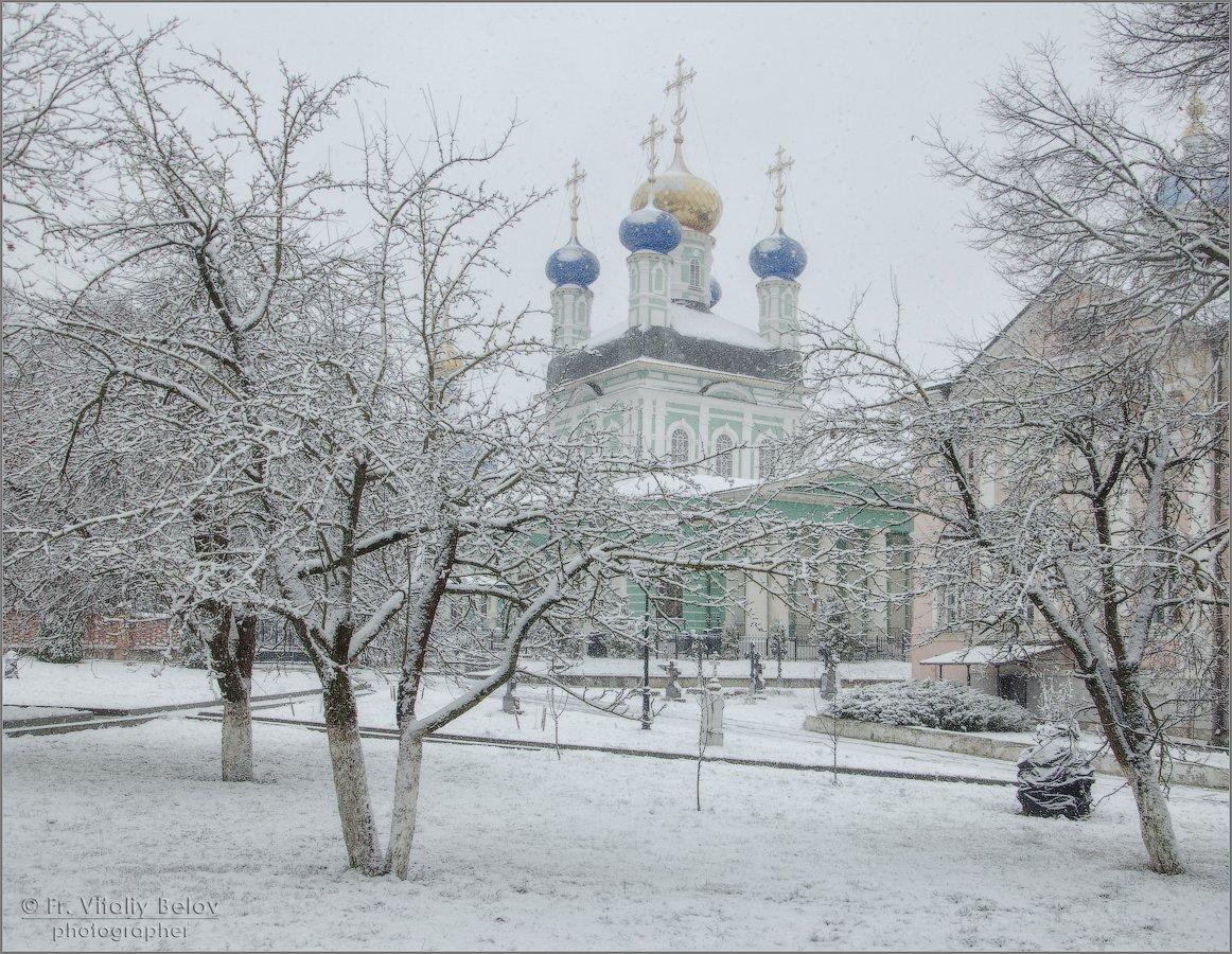 Снег в конце декабря (снимок сделан 18 декабря 2017 г.)
