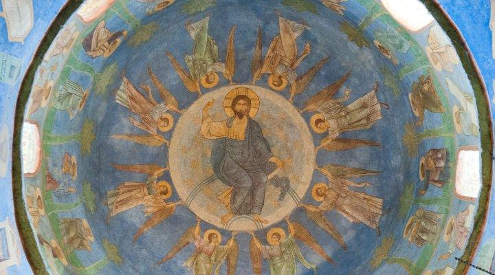 Президентская библиотека раскрывает тайны уникальной росписи Спасо-Преображенского собора Мирожского монастыря