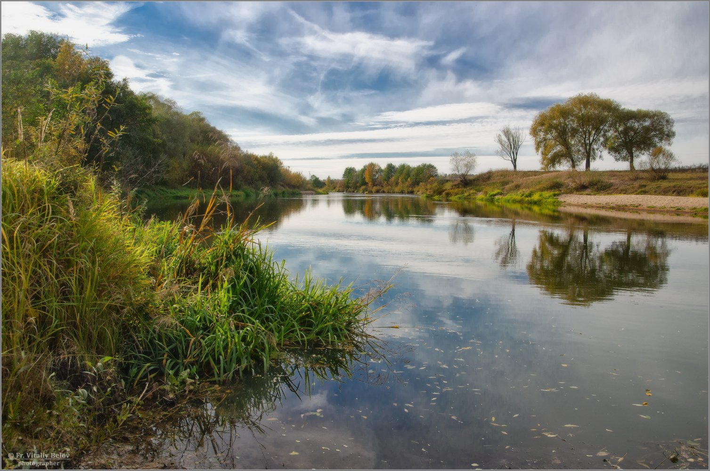 Осень на реке (снимок сделан 9 октября 2018 г.)