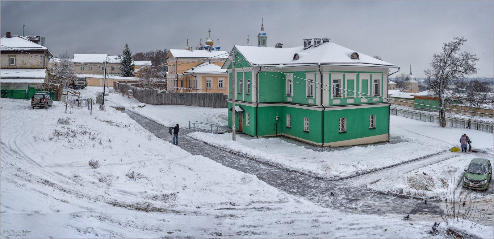 Реконструированные дома (снимок сделан 14 декабря 2018 г.)