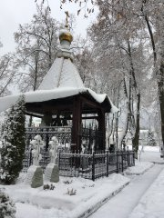 В снегу