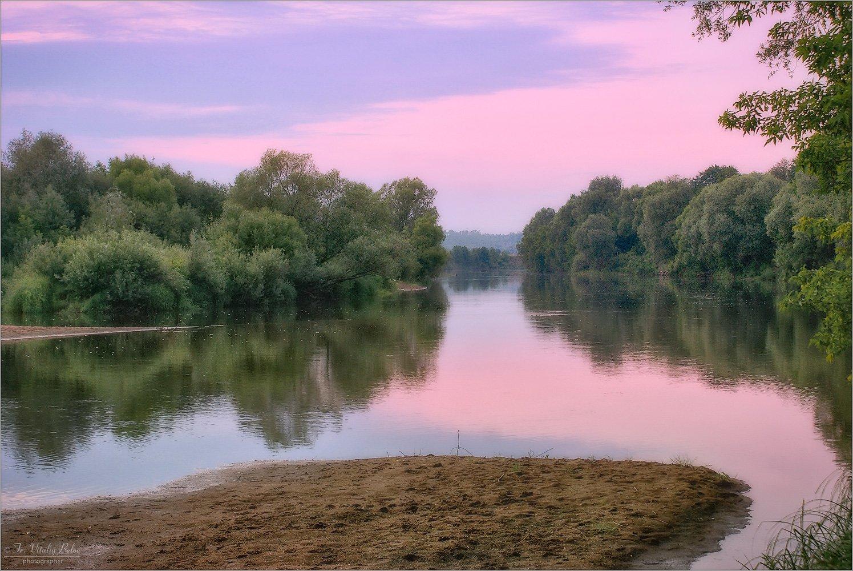 Розовый вечер на Жиздре