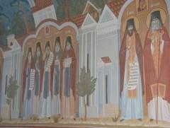 Роспись у ворот Оптиной Пустыни