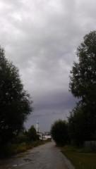 Вот такие тучи стояли над Оптиной вчера. 21.07.2013.