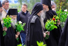 Батюшка Илий в Оптине в день Святой Троицы