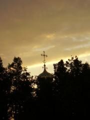 Купола Введенского храма на закате