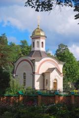 Часовня на месте погребения убиенных оптинских братий иеромонаха Василия, иноков Трофима и Ферапонта
