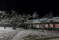 Зимняя Оптина ночью