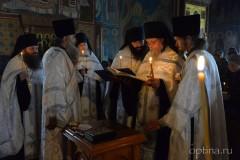 Отпевание инока Алипия