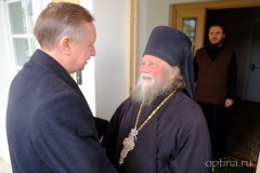 Оптину пустынь посетил полпред президента РФ А.Д. Беглов