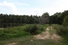 Широкий путь справа от озера