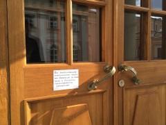 Объявление на двери Введенского храма