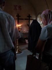 Отец Илиодор в часовне