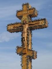 Этот Крест теперь будет стоять на дороге из Козельска в Оптину