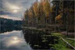 Осенний покой лесного озера (снимок сделан 18 октября 2015 г.)