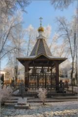 Монастырская звонница (снимок сделан 27 ноября 2014 г.)
