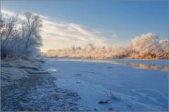 Утро на реке (снимок сделан 27 ноября 2014 г.)