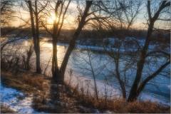 Конец декабря на закате дня (снимок сделан 27 декабря 2014 г.)