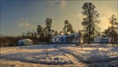 Зимний покой в скиту ( Снимок сделан 26 января 2014 г.)