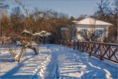 Зимние тени (снимок сделан 26 января 2014 г.)