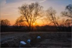 Лучи февральского заката (снимок сделан 28 февраля 2014 г.)