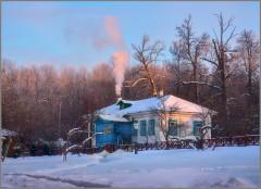Розовый дым ( Снимок сделан 15 января 2013 г.)