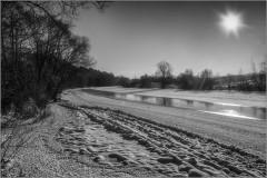 Речная полынья ( Снимок сделан 26 января 2014 г.)