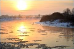 Розовый вечер над рекой ( 9 декабря 2012 г.)
