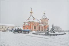 Снежные заносы (снимок сделан 17 января 2013 г.)