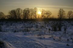 Уходящее тепло зимнего заката