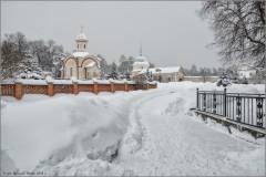 Заснеженная Оптина (снимок сделан 18 января 2013 г.)
