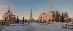 Зимняя Оптина (снимок сделан 24 января 2016 г.)
