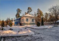 Домик в скиту ( Снимок сделан 26 января 2014 г.)
