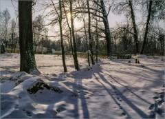 Рисунки на снегу (снимок сделан 12 февраля 2012 г.)