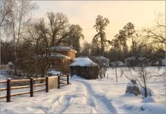 Зимний вечер ( Снимок сделан 15 января 2013 г.)