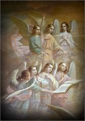 03_Роспись потолка в монастырской братской трапезной (снимок сделан 2 июля 2012 г.)