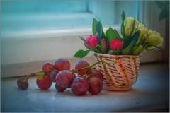 О цветах и винограде (снимок сделан 14 октября 2012 г.)