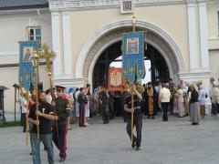 Начало крестного хода в Козельск 17 июля 2011