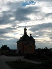 Чудесны закаты в Оптиной.